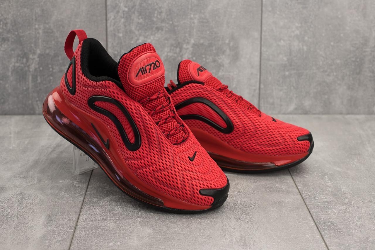 Кроссовки 005 (Nike AirMax 720) (весна/осень, мужские, текстиль, красный)