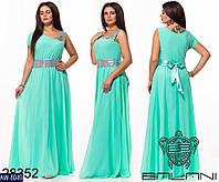 """Вечернее платье большого размера в пол со стразами универсальный размер 48-52 """"Венера"""""""