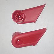 Крепления для ручек тележки супермаркетовской, держатели ручек для покупательских тележек (комплект 2шт)