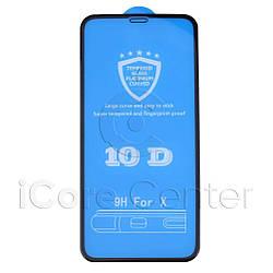 Захисне скло 10D Full Glue (на весь екран) для Iphone X / XS