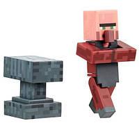 Фигурка Кузнец Майнкрафт серия 2 - Blacksmith, Villager, Minecraft, Mojang, Series 2