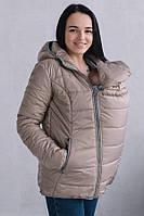 Демисезонная куртка для беременных и слингоношения 3 в 1 Love and Carry бежевая