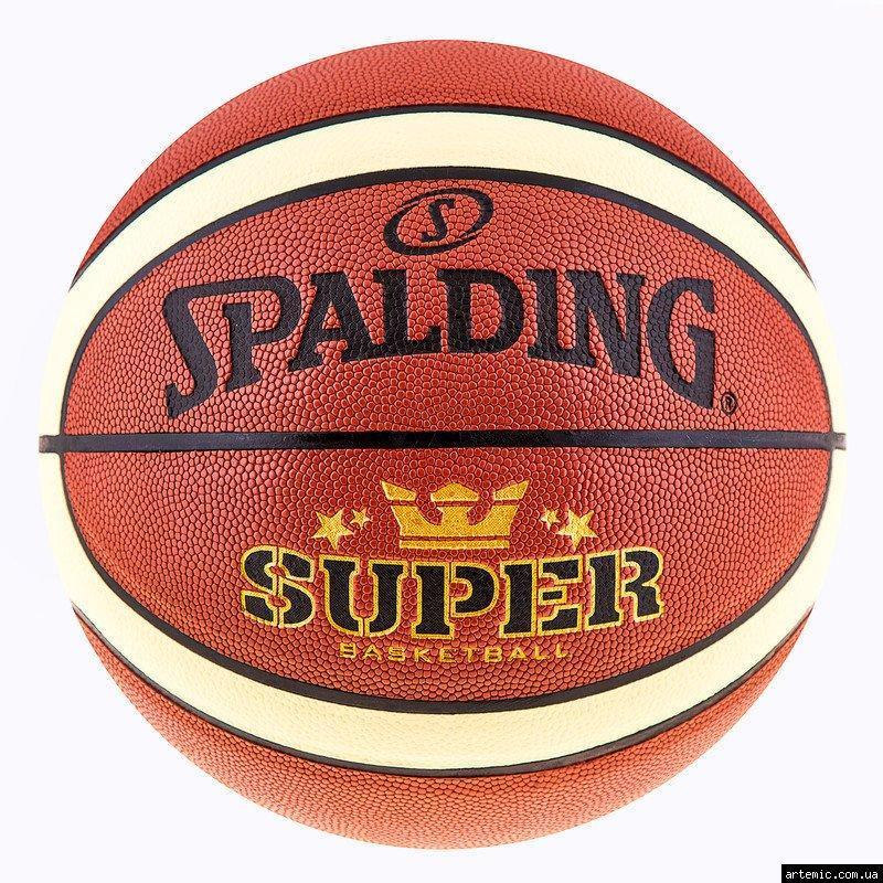 Мяч баскетбольный №7 PU Spalding Super