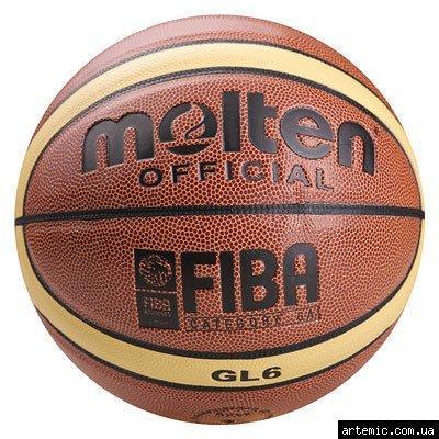 Мяч баскетбольный Molten №6 PU, GL-6 (полоса)