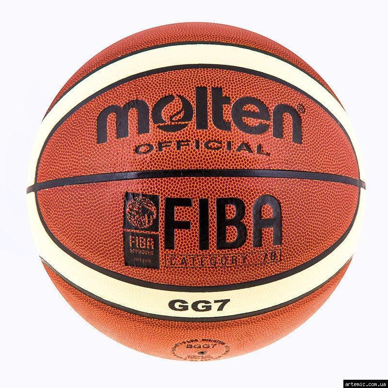 Мяч баскетбольный Molten №7 PU, GL-7 (полоса)