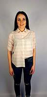 Рубашки Бренд caliente Женский Бело-розовый 100% коттон арт.9282 L(р)