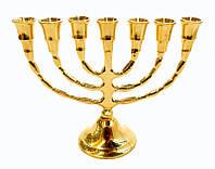 Подсвечник Минора желтый метал (16х12х5,5 см)