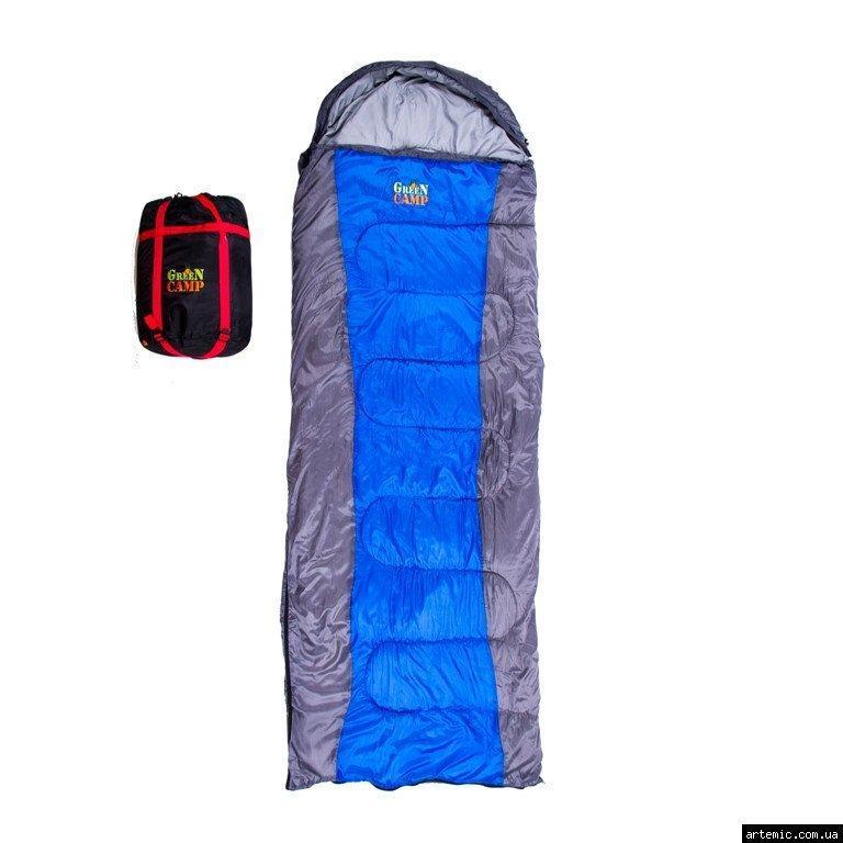 Спальник 450гр/м2 GreenCamp одеяло180+30/75; 1,8кг