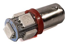 Светодиодная лампа AllLight T 8.5  5 диодов 5050 BA9S 12V RED