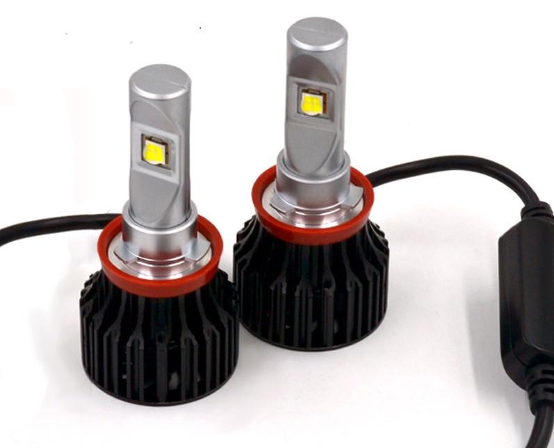 Комплект LED ламп ALed X H11 35W 5000K 5000lm з вентилятором (для лінзованною оптики)