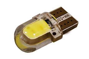 Светодиодная лампа AllLight T10  1 диод  COB 1W W2,1x9,5d 12V WHITE в силиконе МАЛЕНЬКАЯ