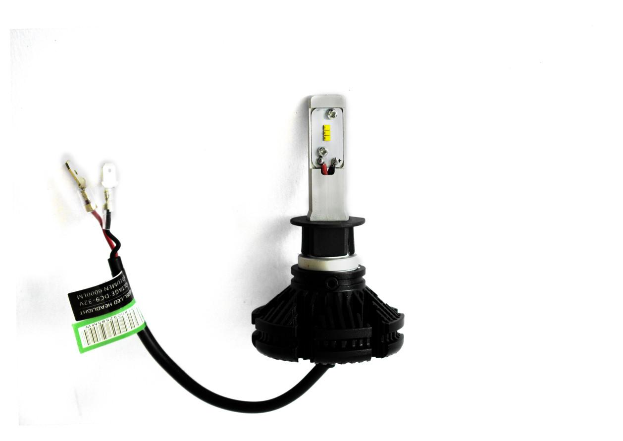 Комплект LED ламп AllLight X3 H1 50W 6000K 6000lm с радиатором