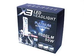 Комплект LED ламп AllLight X3 HB3 50W 6000K 6000lm с радиатором и светофильтрами (3000K/8000K), фото 3