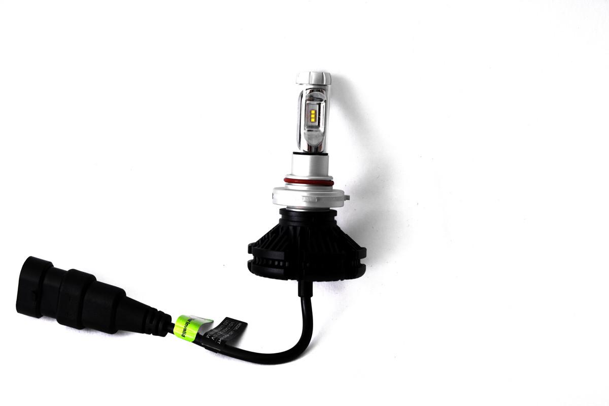 Комплект LED ламп AllLight X3 HB3 50W 6000K 6000lm с радиатором и светофильтрами (3000K/8000K)