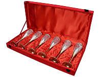 Набор бокалов для шампанского в красной коробочке