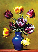 "Холст с контуром ""Ваза с тюльпанами"" (30см*40см)"