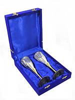 Набор свадебных бокалов в синей коробочке