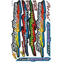 "Наклейки на скутер  ""Sport Elegance""   (мотр-139)"