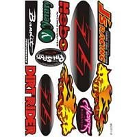 "Наклейки на скутер  ""Dirt Rider""   (мотр-131)"