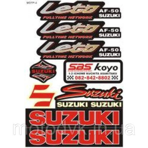 "Наклейки на скутер  Suzuki ""Let's I""  (мотр-4)"