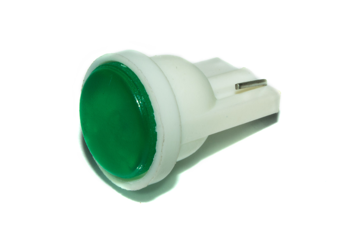 Светодиодная лампа AllLight T10  1 диод COB W2,1x9,5d 12V GREEN