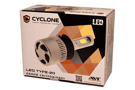 Комплект LED ламп CYCLON Type20 H7 5000K 2800lm з вентилятором, фото 2