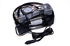 Компрессор автомобильный КВАНТ 13005A 12В двухпоршневой с аналоговым датчиком давления, фото 3