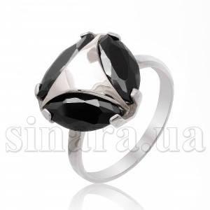 Серебряное кольцо с позолотой 8093