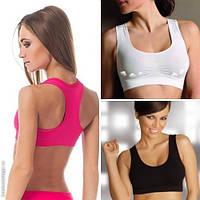Спортивное нижнее женское белье только оптом - спортивный лиф с поддержкой для груди: размеры и цвета разные