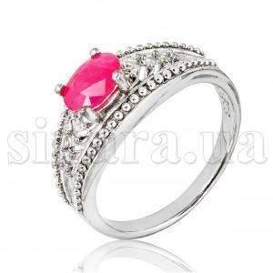 Серебряное кольцо с рубином 18100