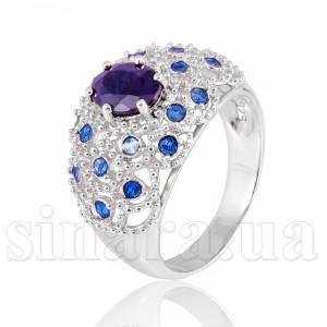 Серебряное кольцо с сапфиром 11534