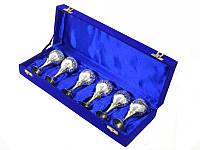 Набор рюмок 6 шт в синей коробочке