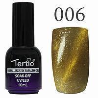 Гель-лак №006 CAT EYES (золотистий магнітний) 10 мл Tertio