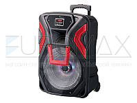 "Акустическая переносная колонка EUROMAX 46х40х74см 15"" 60Вт USB/SD/FM/BT/MIC EU-1503"