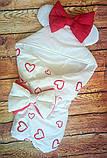 Демисезонный конверт на выписку Мишки, конверт- одеяло для новорожденного весна/лето/осень, фото 8
