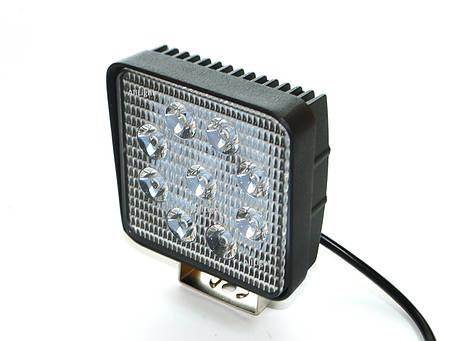Світлодіодна фара AllLight 06type 27W 9chip EPISTAR spot 9-30V (тонкий радіатор), фото 2