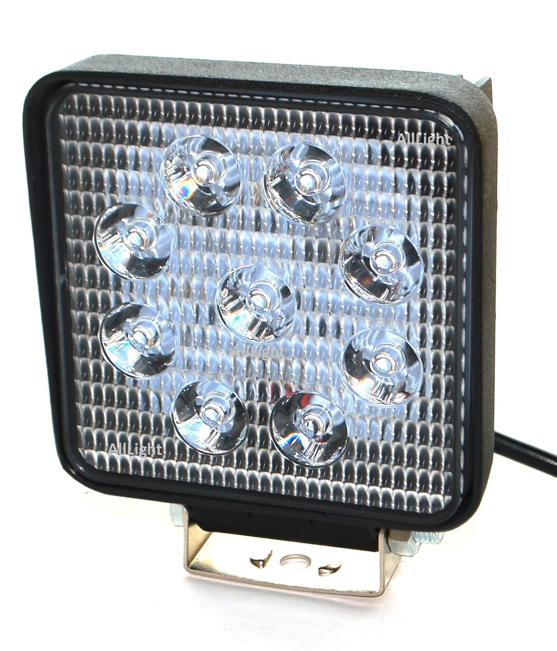 Світлодіодна фара AllLight 06type 27W 9chip EPISTAR spot 9-30V (тонкий радіатор)