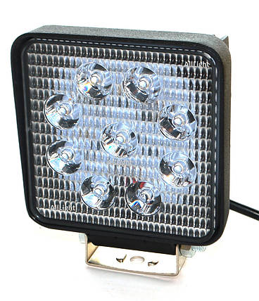 Светодиодная фара AllLight 06type 27W 9chip EPISTAR spot  9-30V (тонкий радиатор), фото 2