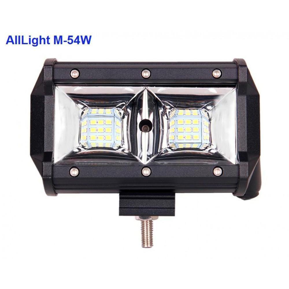 Светодиодная фара AllLight M-54W 3030 ближний  9-30V
