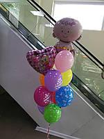 Композиция из гелиевых шариков на выписку. Гелиевые шары на выписку.Шары Киев.