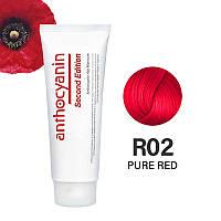 Кольорова фарба для волосся Anthocyanin R02 Pure Red 230 g