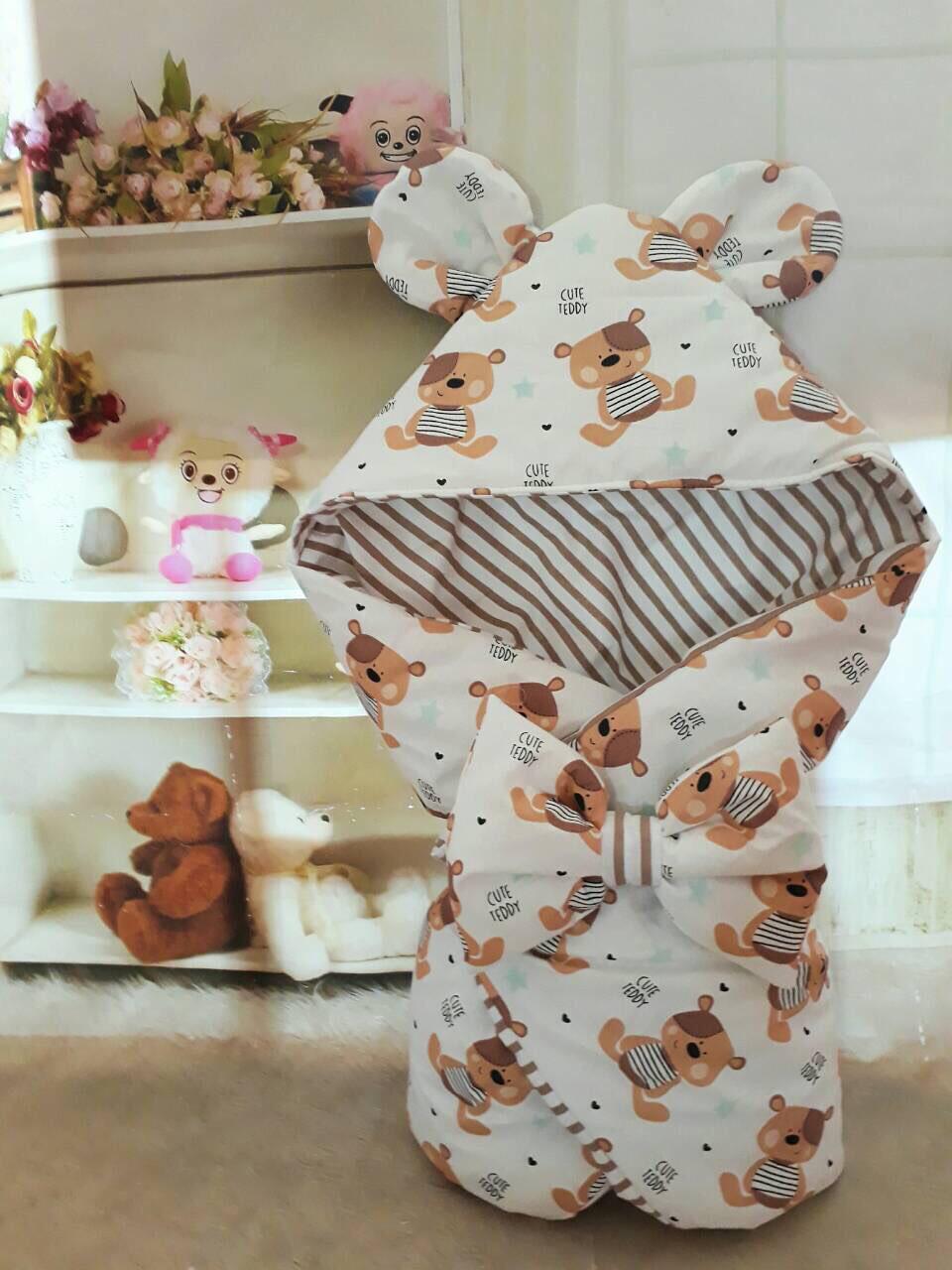 Конверт-одеяло на выписку и для прогулок 78х78см
