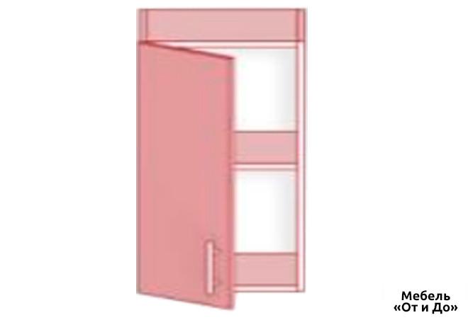 Модульная кухня Хай Глосс / High Gloss Верх 45 витрина фотопечать