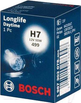 Автолампа BOSCH Longlife Daytime H7 55W 12V PX26d (1987302078), фото 2