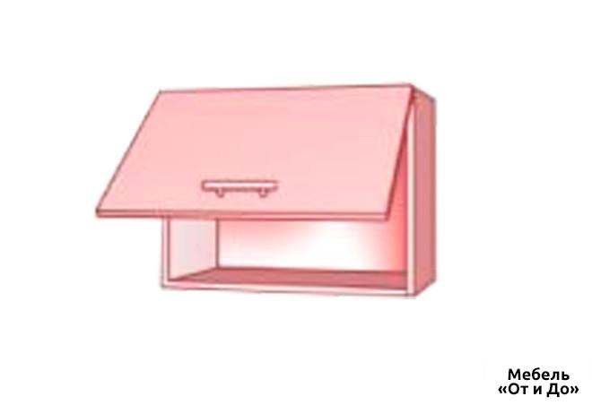 Модульная кухня Хай Глосс / High Gloss Верх 64 вытяжка-витрина фотопечать
