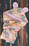 Конверт  с капюшоном  78х78 см весна-лето-осень  для девочек, фото 4
