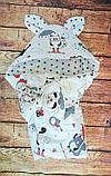 Конверт  с капюшоном  78х78 см весна-лето-осень  для девочек, фото 7
