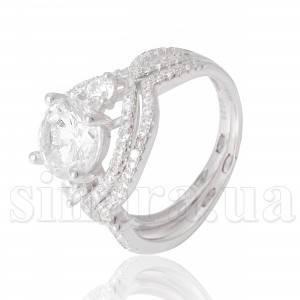 Серебряное кольцо с цирконием 23785