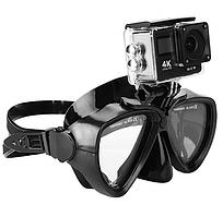 Маска (очки) для дайвинга и снорклинга M1800 с креплением для GOPRO без трубки