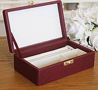Шкатулка для ювелирных украшений 17,8*11*6 Гранд Презент 603430 бордовая